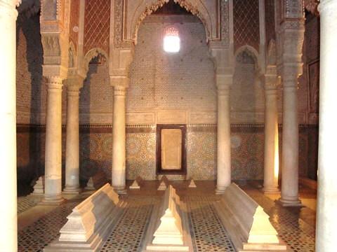Maroc Marrakech tombeaux saadiens