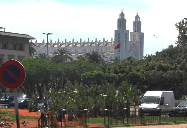 Maroc Casablanca ancienne cathedrale du sacre coeur vue de la place Mohamed V