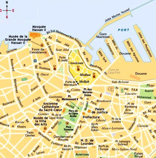 Maroc : plan de Casablanca