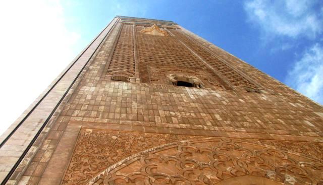 Maroc Casablanca minaret de la mosquee Hassan II