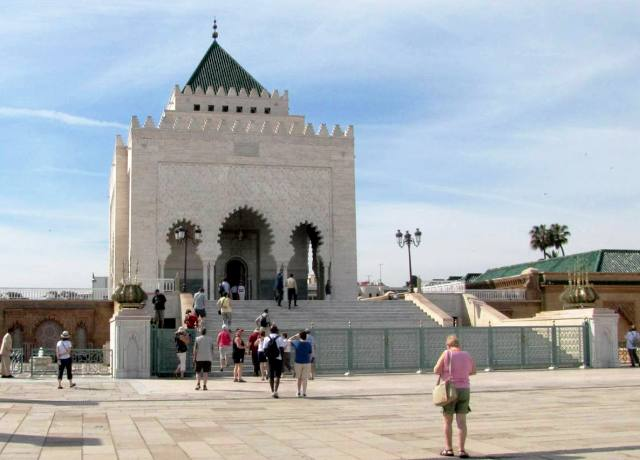 Maroc Rabat mausolee Mohamed V le liberateur.
