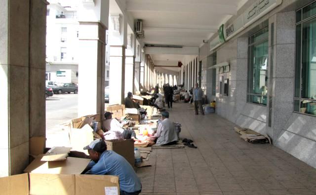 Maroc Rabat allée commerciale vers la gare centrale