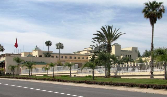 Maroc Rabat entree du parc du palais Royal