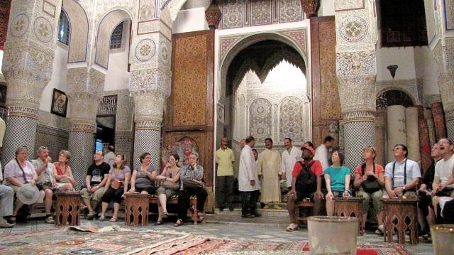 Maroc Fes palais des tapis