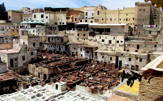 Maroc Fes Medina le quartier des taneurs