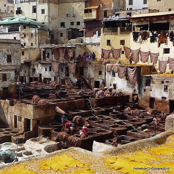 Maroc Fes quartier des taneurs
